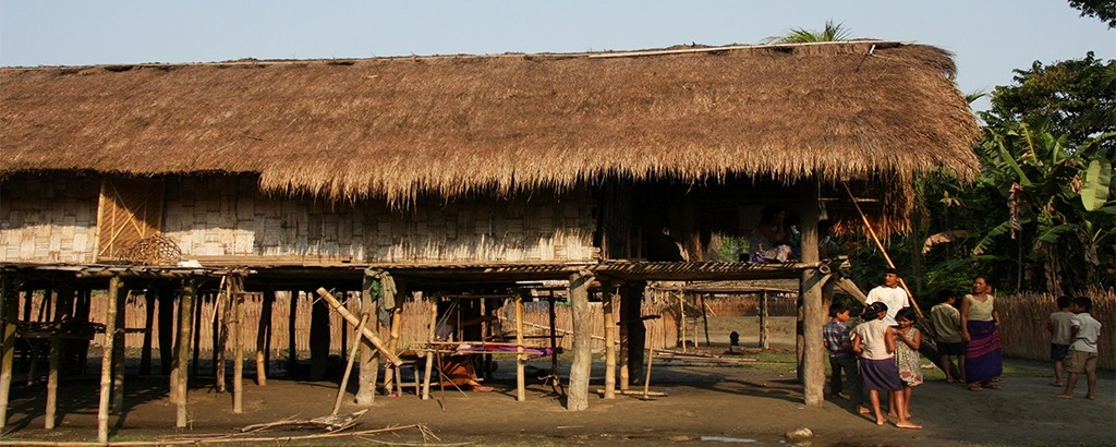 Traditional Mishing Tribal House On Stilts