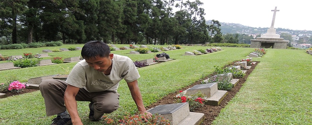 Lovely Common Wealth War Graves\' Cemetery - Kohima, Nagaland